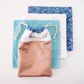 Cotton wipes: Blue