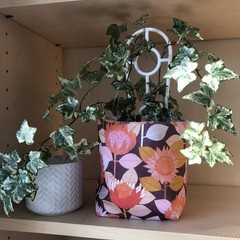 VINTAGE PROTEAS FABRIC BOX, teacher gift/planter