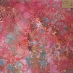 Hand dyed cross stitch fabric - 32 count - 'Deep Watermelon 2'