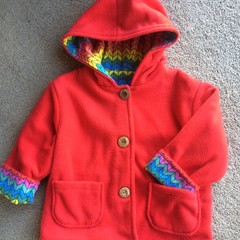 Very popular red polar fleece jackets