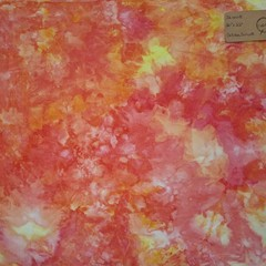 Hand dyed cross stitch fabric - 32 count - 'Golden Sunset'