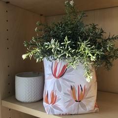 PASTEL PROTEAS FABRIC BOX, teacher gift/planter