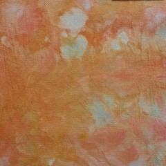 Hand dyed cross stitch fabric - 14 count aida - 'Old Coral 2'