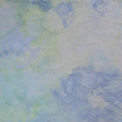 """Hand dyed cross stitch fabric - 25 count - """"Calming Water'"""