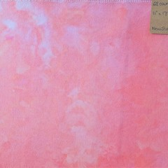Hand dyed cross stitch fabric - 28 count - 'New Scarlet'