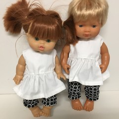 Miniland and Miniknane Dolls Bloomers  and Top to fit 38cm Dolls