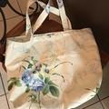 Blue theme shopping bag, unique item, hand made