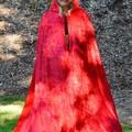 Velour Cloak Long Length Bright Red