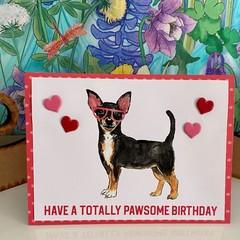 Greeting Card - Cute Puppy Card - Pawsome Birthday