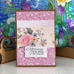 Greeting Card - Japanese Paper Style - If Friends were Flowers