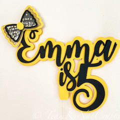 Emma Wiggles -Inspired Caketopper ( with Shaker)