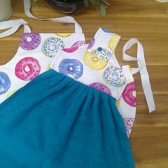 Toddler Apron & Matching Hand Towel Set