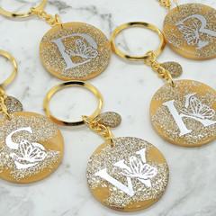 Gold Monogram keychain