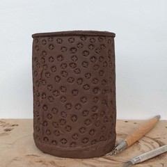 Texture Mat #15.  Rubber Texture mat for making impressions in clay