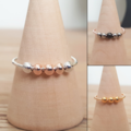 Meditation ring, Worry ring, Metal bead anxiety ring