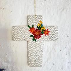 Wall Art - Floral Peaks Cross
