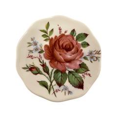 Dusty Pink Rose Brooch