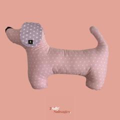 Sausage Dog Cushion - Pink / Lavender ears