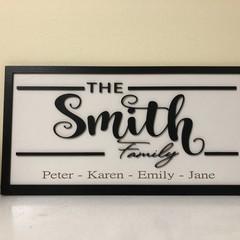 Family name sign farmhouse style