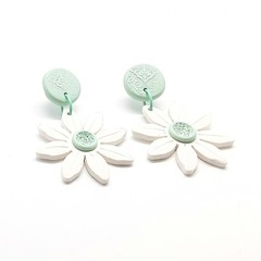 Daisy Drops - White and Mint
