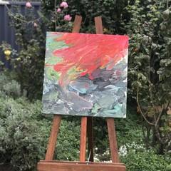 "'Volcanic Lava' Thin Edge Canvas 16x16"""