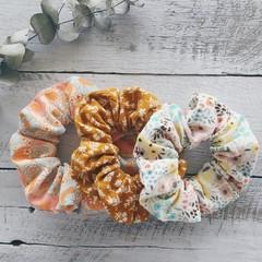 Scrunchies: Cotton Corduroy Florals $5 Each