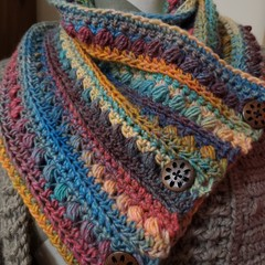 Gorgeous Crochet Cowl, scarf, neck warmer.