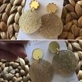 Recycled Gold Glitter Earrings Dangles | Ethical