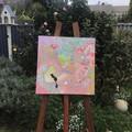 "'Pastel Swish' Deep Edge Canvas 16x16"""