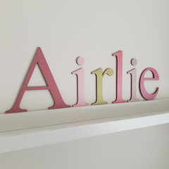 Name Letters for Wall or Door. Uppercase 15cm & Lowercase 10cm