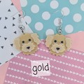 Groodle / goldendoodle / labradoodle  Dog Resin Earrings Jewellery