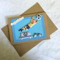 'Soccer Goalie - Congratulations' Card