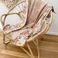 Floral affair dusty pink baby blanket