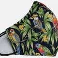 AUSTRALIAN BIRDS Facemask lorikeet, King parrot, kingfisher, kookaburra, corella