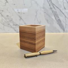 Modern Minimalist American Walnut Pencil Holder | Pen Holder | Desk Organiser