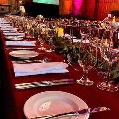 Burgundy Overlays / Tablecloths #6733