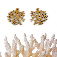 Coral shape design earring blanks  various colours  sold in pairs