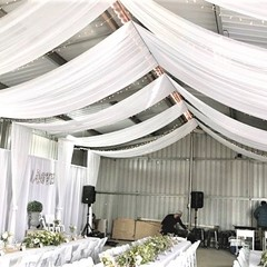 White Ceiling Draping #6761