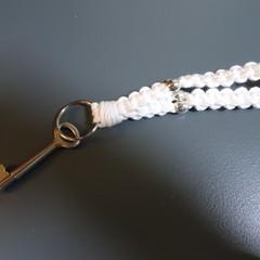 Macrame Loop Keychain