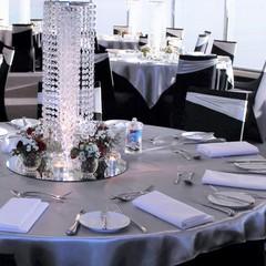 Silver Satin Table Overlays – #7801