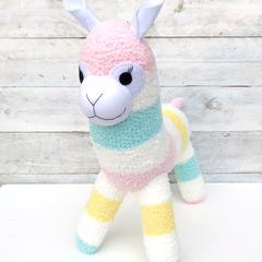'Amelia' the Sock Alpaca - pastels  - *READY TO POST*