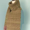 Chunky Handwoven Wool Scarf, Hand Dyed Merino Wool