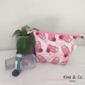 Asthma Equipment Bag - Pink Puffer Fabric