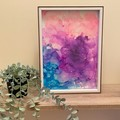 Alcohol Ink in Frame