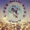 Anniversaries- Hand painted personalized plates (keepsakes)