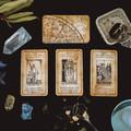 Tarot Deck with keywords, Vintage tarot card deck, oracle cards, 78 cards, tarot