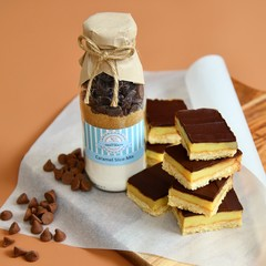 CARAMEL SLICE Baking Mix in a bottle. - makes 6 or 12 delicious cookies.