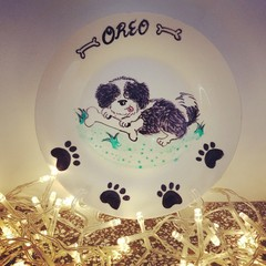 Pets- Hand painted personalized plates (keepsakes)