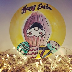 Easter - Hand painted personalized plates (keepsakes)