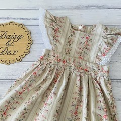 Floral Polly Pinafore Dress, Size 000 00 0 1 2 3 4 or 5 Girls Dresses